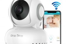 Katze-Tatze ベビーモニター ネットワークカメラ 双方向音声通信 暗視機能 720P高画質 首振り式 iOS/Android 日本語説明書付き 一年間保証